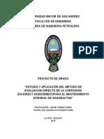 Josue Tarqui Soria - Proyecto de Grado - Estudio y Aplicacion Del Metodo de Evaluacion Directa De