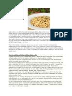 Aglio e Olio-Recipes