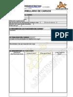 Formulario Analisis de cargo