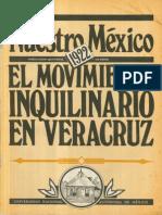 Nuestro México. El Movimiento Inquilinario en Veracruz (1922)