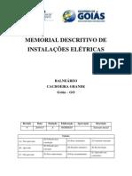 Memorial Descritivo Eletrico Cachoeira Grande