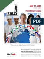 Wear White Rally May 12, 1130-1300 Peace Bridge