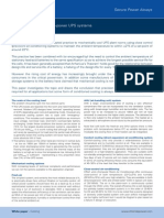 Cooling Options for High Power Ups Systems White Paper
