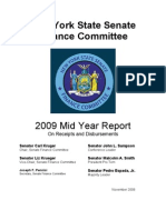 2009 Mid Year Report on Receipts and Disbursements