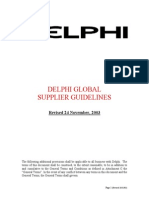 Delphi manual requirements