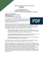Syllabus POLS 30596 International Development in Practice II