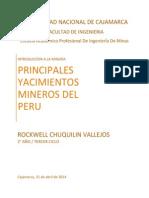 Principales Yacimientos Mineros Del Perú