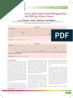 2Deteksi Helicobacter Pylori Pada Anak Menggunakan Teknik PCR Dan Kultur Feses