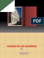 Audios Docentes y Alumnos