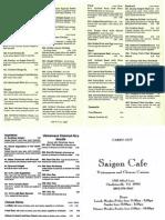 Saigon Cafe menu