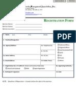 PRMA Registration Form