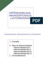 ALERGIAS. Hipersensibilidad, Inmunodeficiencia y Autoinmunidad