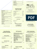 Cafe Europa menu