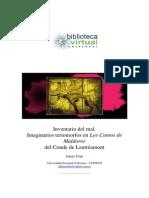 Inventarios Del Mal. Imaginarios Teriomorfos en Los Cantos de Maldoror