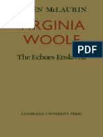 Virginia Woolf- The Echoes Enslaved Escrito Por Allen McLaurin