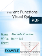 presentation - quiz 1 parent functions visual quiz  lesson sec 1 6