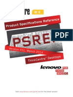 Product Specifications Reference