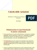 K.D. Bizon - Calcolo Delle Variazioni