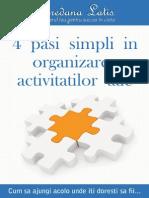 4 Pasi Simpli in Organizarea Activitatilor Tale