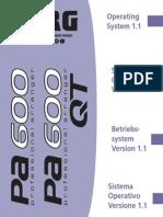 Korg Pa600 Upgrade v110 (EFGI)