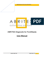 Abrites Diagnostics for Ford Mazda User Manual