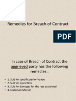 Remediesforbreachofcontract