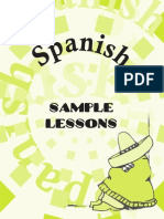 Sample Lessons Spanish