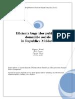 Eficienta Bugetelor Publice in Domeniile Sociale in RM