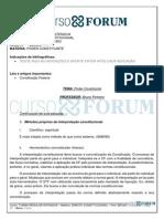 Turma Regular Intensiva 2013.1 (Presencial) Manhã - Direito Constitucional - Aula 09 08.04.12