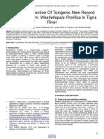 Molecular Detection of Toxigenic New Record Cyanobacterium Westiellopsis Prolifica in Tigris River