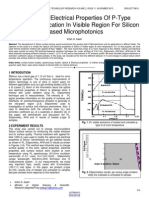 Optical and Electrical Properties of P Type Si 100 Modification in Visible Region for Silicon Based Microphotonics
