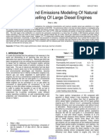 Performance and Emissions Modeling of Natural Gas Dual Fuelling of Large Diesel Engines