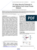 The Impact of Using Security Protocols in Dedicated Private Network and Virtual Private Network