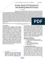 Weight Reduction Study of Polycrete an Asbestos Free Building Material Product