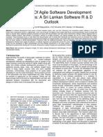 Emergence of Agile Software Development Methodologies a Sri Lankan Software R & D Outlook