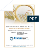 Cement vs Chemical Grout