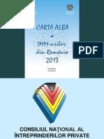 Prezentare Carta Alba a Imm Urilor Din Romania 2013