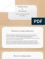 Modernism vs. Traditionalism - Dragodan Catalin