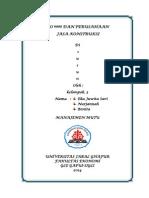 MAKALAH        EKONOMI Tentang ISO 9000 Dan Perusahaan Jasa Konstruksi.docx