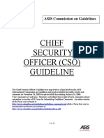 Chief Security Officer Guidlines