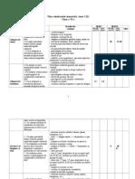 Plan Calendaristic Semestrial 6