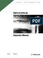 Alfa Laval FOPX613 Manual