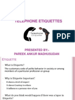 Seminar on Telephone Manners