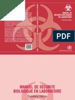 Manuel de Securite Biologique en Labortoire
