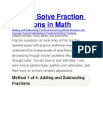 How to Solve Fraction Questions in Math