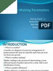 Marker Making Parameters