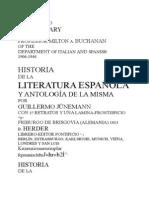 Jünemann - Historia de La Literatura Española y Antología
