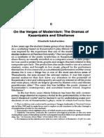 Elizabeth Sakellaridou - On the Verges of Modernism the Dramas of Kazantzakis and Sikelianos