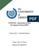 ISDP(CW2) Individual Report