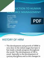Intro. to HR